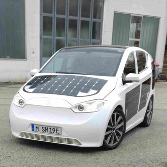 Sion Solarfahrzeug der Firma Sono Motors Foto Solarstrom Simon Alternative zu VW Bmw Mercedes GM Bolt Tesla