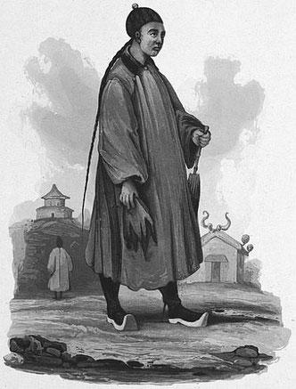 Hommes de la haute classe. C. Laplace (1793-1875) : la CHINE, dans : Voyage autour du monde sur la Favorite (1830-1832). Et de : Campagne de circumnavigation de la frégate l'Artémise (1837-1840).