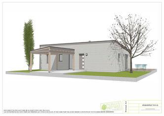 maison bois avec toit monopente