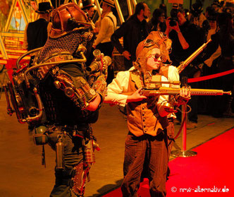 Steampunk Retrofuturismus Karussell Jahrhunderthalle Bochum