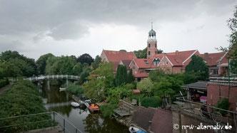 Emsradweg: Das Städchen Ditzum kurz vor Emden.