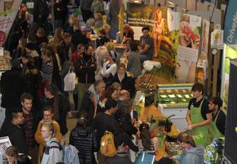 Nachhaltigkeit und pflanzlicher Lebensstil liegen im Trend: Viel Andrang auf der Vegginale im letzten Jahr (Bild: Daniel Sechert)