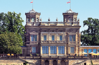 Lingnerschloss Dresden, Blick aufs Schloss, Brit Gloss, Lesung