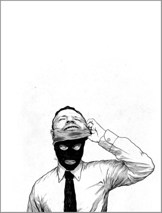 Ein Street Art Bild von Unmasking Corrution aus England.