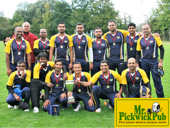 Zurich Nomads Cricket Club after winning the 2016 Pickwick Cup competition in Berne