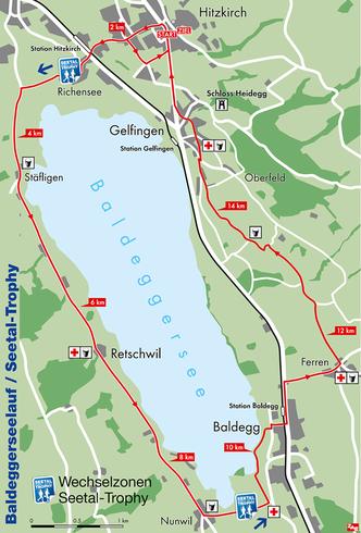 Es galt 10 Meilen um den Baldeggersee zu bewältigen, mit einer Anfangsschlaufe in Hitzkrich.