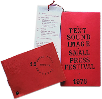 Text Sound Image Small Press Festival: catalogue, programme, Guy Schraenen Catalogue