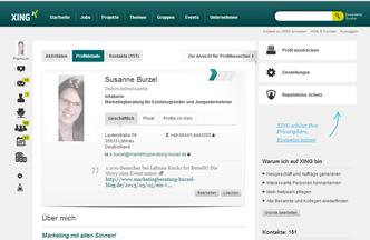 XING Profil Susanne Burzel