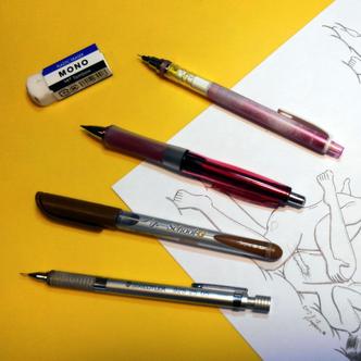 写真1 メインの筆記具