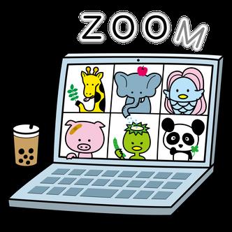 動物園でZOOM会議イラストTシャツデザイン作成アマビエきりんゾウパンダカッパ