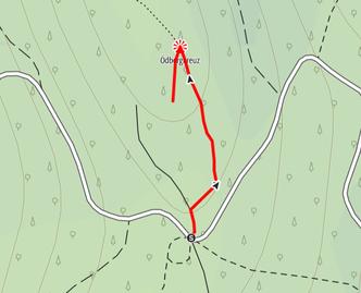 Route auf den Ödberg im Hausruck