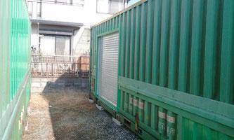 滋賀県近江八幡市 加工業様に中古コンテナ40ftを製品の一時保管 収納として納品。