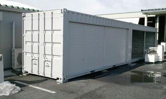 広島県 中古コンテナ20ft グレー塗装 フルシャッター  品質管理部のご担当者様から検品OKを!