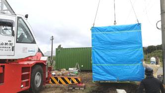 長野県諏訪郡 中古コンテナ20ft・40ft改造納品