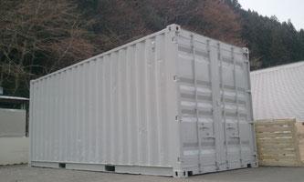 ライトグレー塗装20ftコンテナの納品