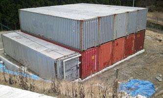 滋賀県大津市 加工業様に中古コンテナ ハイキューブ40ftを2段積みで納品。
