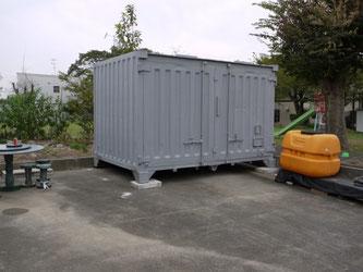 岐阜県不破郡 倉庫中古コンテナ12ft グレー塗装 物置保管庫