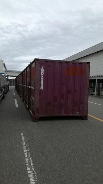 福島県いわき市 中古コンテナ12ft納品