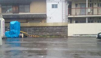 【岐阜県岐阜市】中古コンテナ12ft グレー塗装