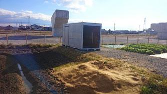 岐阜県安八郡神戸町に中古2tアルミコンテナを農具等の収納 保管として納品。
