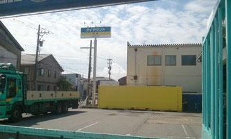 石川県金沢市 タイヤセンター様 中古コンテナ30ft納品