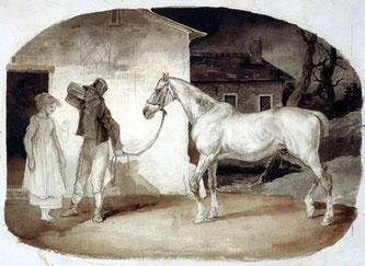 T.Géricault: Vieux Cheval à la porte d'une auberge