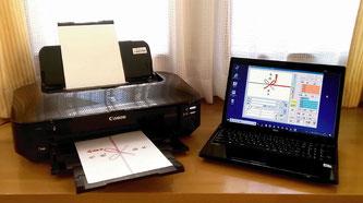 ※のし彩V3をノートPCとCanon-ix6830で稼働