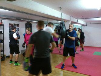 Fitnessboxen Boxsackparcours, Januar 2017 @ M's-Gym Bern Ittigen