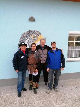 4. Platz für die fliegenden Luftschlangen mit Hochmeister Karl, Puchberger Richard, Zdrahal Christian und Kammer Rene