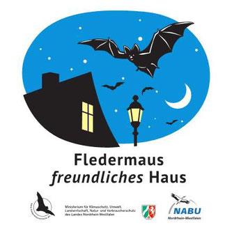 Plakette Fledermausfreundliches Haus