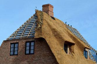 Massivhaus mit Reet in Schleswig-Holstein
