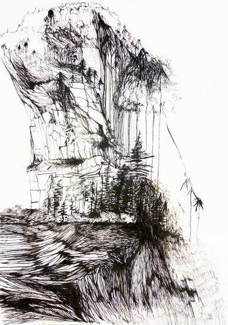 Nina Gross Zeichnung Berge