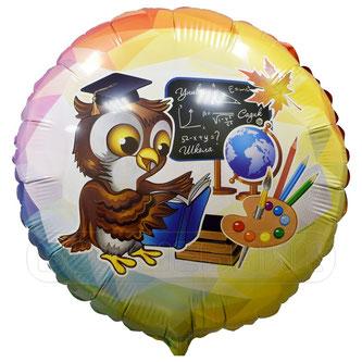 """Фольгированный шар 18"""" Flexmetal - Умный совенок #411545  - купить в Казани в магазинах Волшебник"""