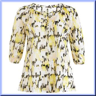 gelbe Bluse in Übergröße