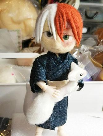 轟 焦凍 羊毛フェルト ヒロアカ 僕のヒーローアカデミア