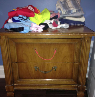 'Before' pic of tired dresser
