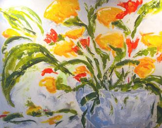 Blumenstrauss, Acryl auf Leinwand, JULIA! Neulinger-Kahl