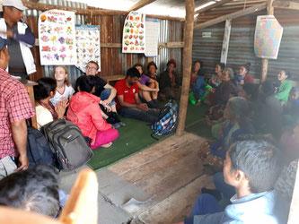 Meeting der Dorfbewohner