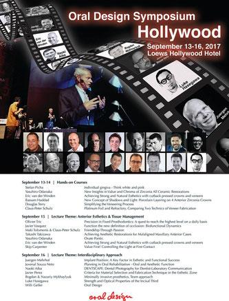 Flyer of Oral Design Symposium Hollywood