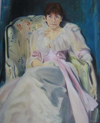 Zelfportret - Olieverf 110 x 73 cm