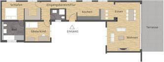 Tenger, Wohnung 01, Heinemann Immobilien und Bauprojekte GmbH & Co. KG