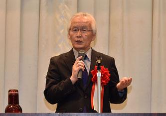 ▲日本グラウンド・ゴルフ協会 園山会長