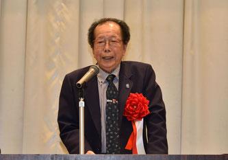 ▲長野県グラウンド・ゴルフ協会 犬飼会長