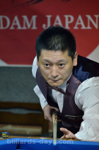 Hideaki Kobayashi won All Japan Professional 3-Cushion Championship 2015