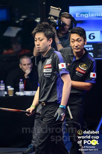 Naoyuki Oi (left) & Toru Kuribayashi, 2015 Team Japan Photo courtesy of Matchroom Sport
