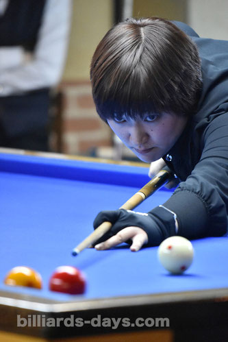 Natsumi Higashiuchi won 7th Ladies 3-cushion Grand prix
