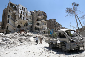 Aleppo 2015          (Foto - Zein Al Rifai, Amc/Afp)