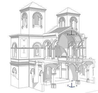 Figura 3: Secciones 3D del modelo BIM en ARCHICAD