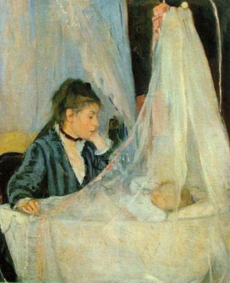 ベルト・モリゾ「ゆりかご」1874