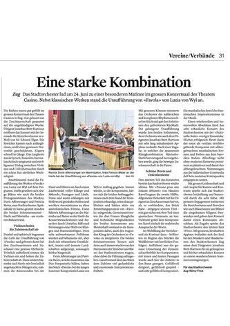Zuger Zeitung, 27.06.2018